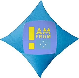OFFbb-USA I Am from Micronesia - Funda de almohada azul para cama de coche