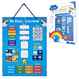 Simply Magic Kids Calendar - My First Daily Magnetic Calendar for Kids, All About Today Board, Amazing Days of The Week Calendar for Kids - Preschool Classroom Calendar for Wall, Circle Time Calendar