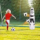 Entrenamiento fútbol 1.75M práctica de Muñeco de fútbol Muñeco de fútbol inflable Maniquí de fútbol muñecas hinchables, Manuales de tiros libres de práctica de fútbol Driblar Taladros de paso de pared