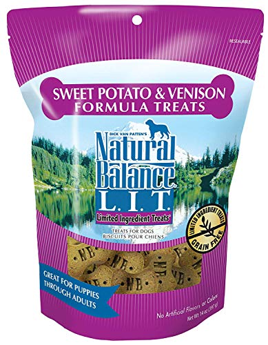 Natural Balance L.I.T. Limited Ingredient Treats Sweet Potato & Venison - 14-ounce (Pack of 2)