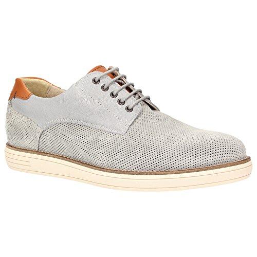 Zweigut® -Hamburg- komood #360 Herren Derby Schuhe Leder Schnürer Halbschuhe Büro und Freizeit, Schuhgröße:45, Farbe:grau