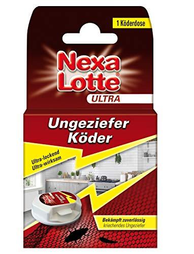 Nexa Lotte Ultra Ungeziefer Köderdose, Falle gegen Schaben, Silberfischchen und anderes Ungeziefer, 1 Dose