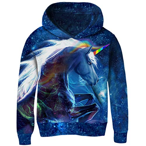 AIDEAONE Unisex 3D Digital Print Hoodie Casual Pullover Hooded Sweashirt Jacket with Pockets