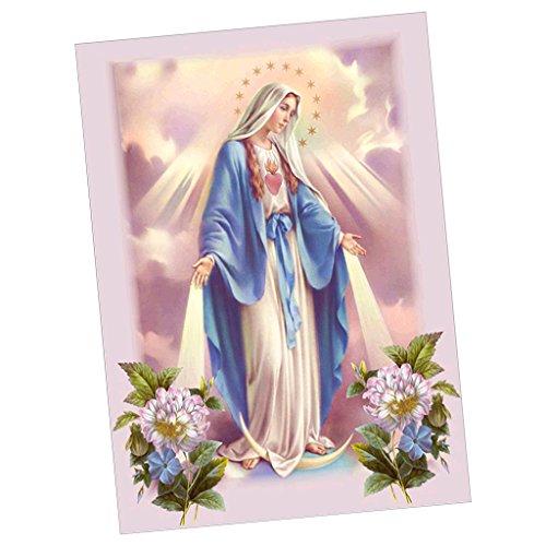 yotijar 5D DIY Diamante Pintura Trabalho Artístico Bordado Cruz Kit Ponto Artesanal Decoração para Casa - Virgem Maria, Tamanho real