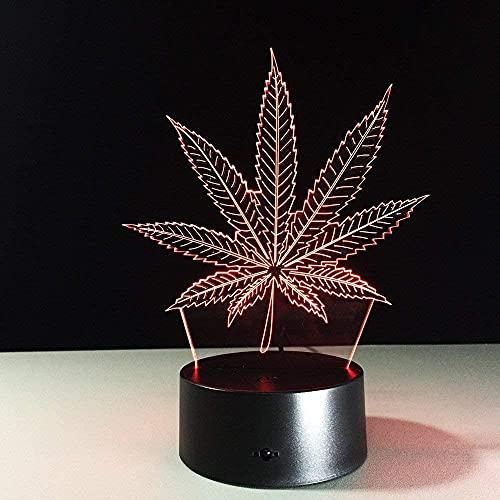 XJYXH Lámpara de ilusión 3D, lámpara de mesa, violín, juguetes bonitos para decoración del hogar, regalos para niños con carga USB, cambio de color colorido (tamaño: control táctil)
