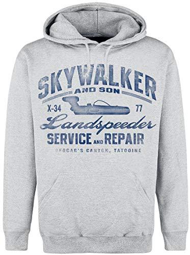 Star Wars Skywalker Hooded Sweater grau meliert, Größe:S