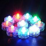BAAQII 24X LED Farbwechsel Tauch Wasserdichte Party Vase Teelichter Kerzen