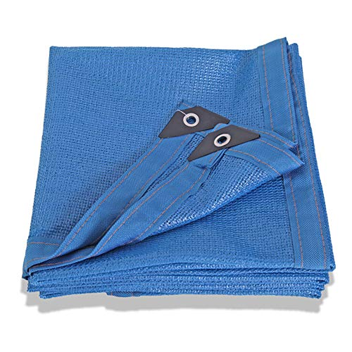 Shade Net LDFZ parasol, blauw, 6 pins, zon, 80% UV-bestendig, geschikt voor jaloezieën, plantenafdekkingen, kas, stal of auto