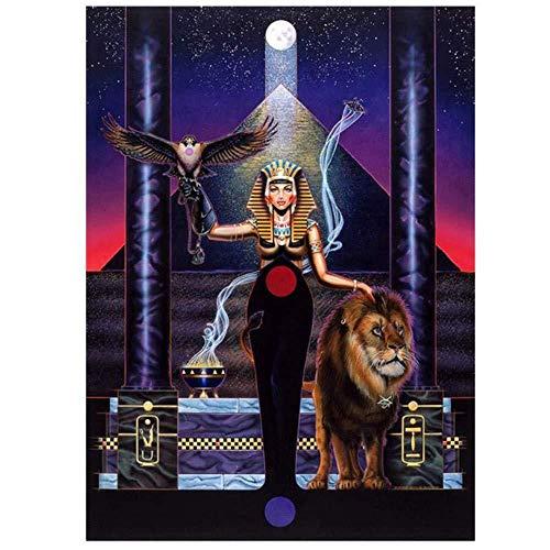 Kit de bordado de pintura de diamante 5D Egipto Carácter León Completo...
