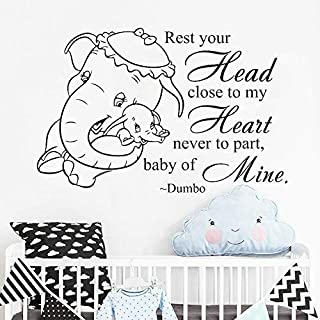 Dumbo Wall Decal Baby Elephant Cute Vinyl Stickers Children Home Decor Bedroom Bedroom Baby Room Nursery Text Mural Art