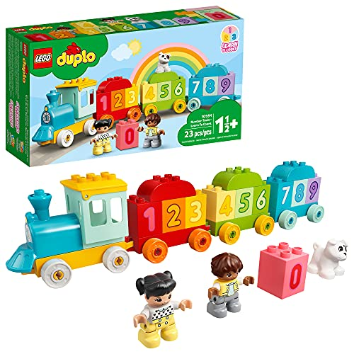 LEGO DUPLO My First Number Train - Learn to Count 10954 Building Toy  Introduce Toddlers to Numbers and Counting  New 2021 (23 Pieces)