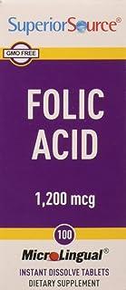 Ácido fólico MicroLingual. 1.200 mcg. 100 Tablets - Fuente Superior
