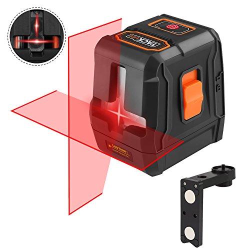 Livella laser, Tacklife SC-L07 15m Crossover autolivellante, Tre modalità, Laser lineare automatico 110 ° orizzontale/verticale, IP54, 35 m con ricevitore laser, Supporto magnetico