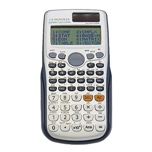 TEDLKU Zakrekenmachine, wetenschappelijke rekenmachine, Dual Power met 417 functies, Dual Power Calculadora Cientifica Student Exam Calculator multicolor