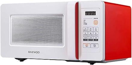PLEASUR Horno microondas con cronómetro, Acero Inoxidable, 1000 vatios, 220 voltios, Rojo