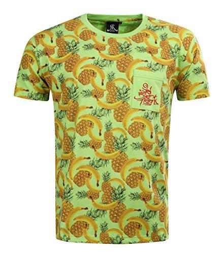 257ers T-Shirt Ananasbanana Allover, Farbe:grün, Größe:S