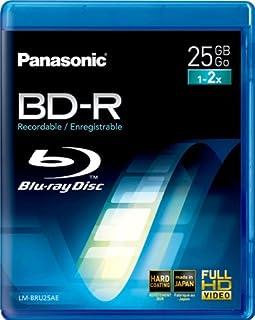 Panasonic LM-BRU25AE 25GB Write Once Blu-ray Media 1-2xSpeed Video Box