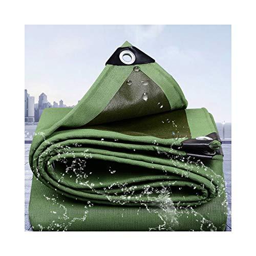 GGYMEI Lona De Protección , Anti-envejecimiento Impermeable Mantener Caliente Adecuado for Vehículos De Transporte De Patio Agricultura Lona, 19 Tamaños (Color : Green, Size : 8x10m)