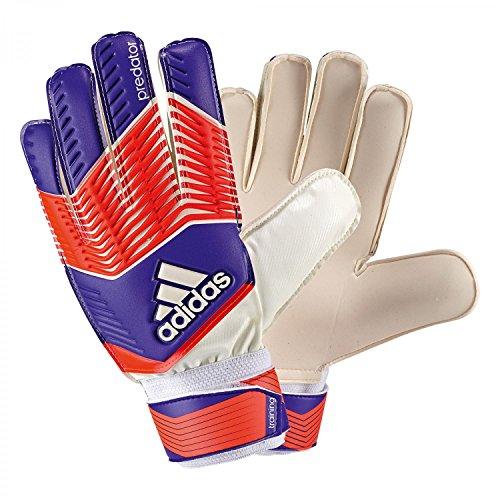 adidas Predator Training Guantes de Portero para Adulto, Todo el año, Unisex, Color Naranja - Azul/Rojo/Blanco, tamaño 8,5