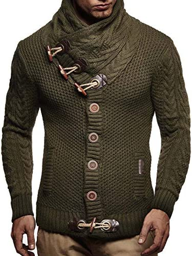 Leif Nelson LN4195 Men s Knitted Turtleneck Cardigan Sweater Pullover Sweatshirt Winter X Large product image