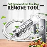 Drenaje Clog Remover Nevera Orificio de Drenaje removedor de Limpieza Kit de Herramientas Reutilizables para el hogar Refrigeradores Escurrir Herramienta de Dragado Agujero