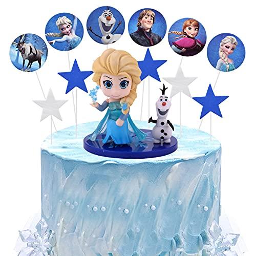 Frozen cake topper simyron 17pcs Mini Figurine Decorazione della Torta Mini Figurine Mini Giocattoli per Bambini e Baby Shower Forniture per la Decorazione della Torta della Festa di Compleanno