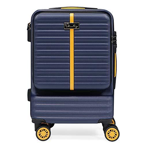BlissTrip Espandibile Bagaglio a Mano Valigia Trolley rigido e robusto con rotelle girevoli,57cm