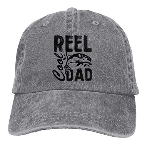 Presock Reel Cool Dad Cowboy Cap Unisex Adjustable Trucker Baseball Hats Gray