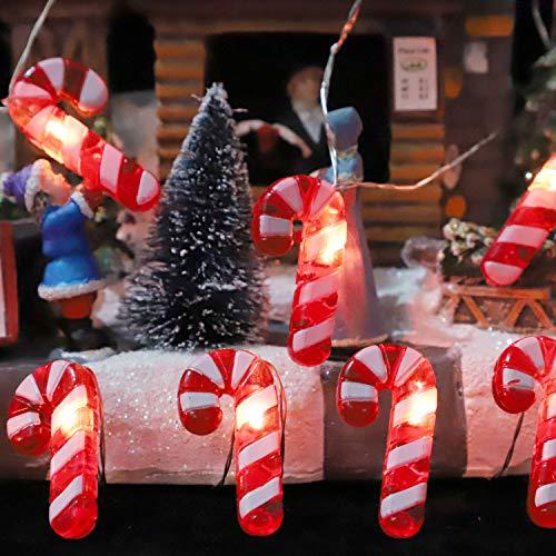IMPRESS LIFE Candy Cane Christmas Theme String Lights