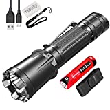 Tidusky Klarus XT11GT Pro Tactical Flashlight Super Bright 2200 Lumens LED Rechargeable Powerful Torch Light for Military Police Outdoor Activities, 6 Output Modes, with 18650 Battery Battery Case