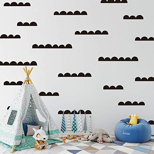 Dalao muurstickers, rubber, kleine muurkunst om zelf te maken, wolkenstickers, schattige decoratie voor de kinderkamer