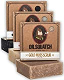 Dr. Squatch Men's Soap Sampler Pack (3 Bars) – Pine Tar, Cedar Citrus, Gold Moss Bars – Natural Manly Scented Organic Soap for Men (3 Bar Bundle Set)