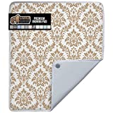 Gorilla Grip Premium Ironing Pad, Magnetic Laundry Pad, 28x24 Inch, Heat and Scorch Resistant, Iron Board Mat for Table Top, Washer, Dryer, Durable Pads Great for Travel, Damask