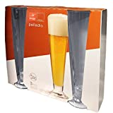 Packung 3 Biergläser 38,5 cl – BORMIOLI ROCCO Linie Palladium Glas in Star Glass