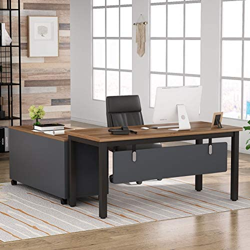 Tribesigns L Shaped Computer Desk with Storage Drawers Cabinet Set Large Executive Office Desk product image