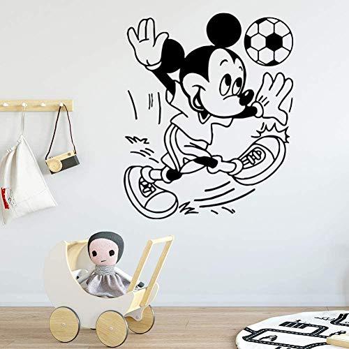 Pegatinas de pared pegatinas de diseño personalizado pegatinas de fútbol de belleza para niños pegatinas de habitación calcomanías pegatinas 57 cm x 69 cm