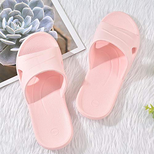 B/H Zapatillasdemasajeunisex,Zapatillas de Interior Antideslizantes, Sandalias de Masaje en casa-Powder_35-36,Zapatillas de baño