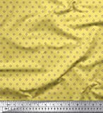 Soimoi Gelb Seide Stoff Dot & Heart Hemdenstoff Stoff