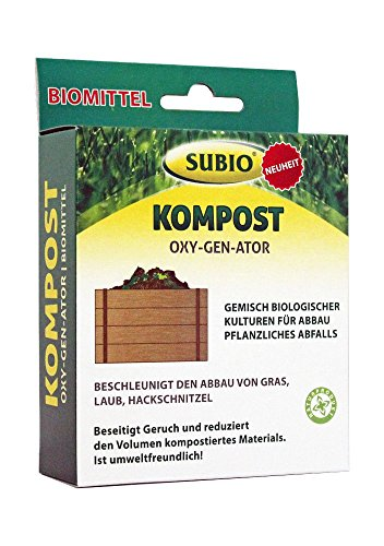SUBIO Biomittel Kompost Oxy-Gen-Ator, Off White, 10x3,8x14,2 cm