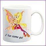 My Cust Mug Tazza Winx,Fata Stella, Personalizzata con Nome Frase O Foto - Idea Regalo