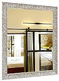 GaviaStore - Julie Silver 90x70 cm - Espejo de Pared Moderno (18 tamaños y...
