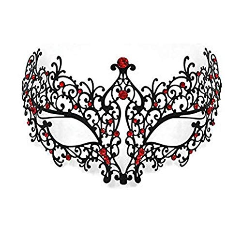 AMFSQJ Mascarada Máscara Metal, Veneciana Máscara de la Mascarada Metal Máscara de Carnaval Halloween Máscara Metal (Máscara f)