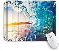 VAMIX マウスパッド 個性的 おしゃれ 柔軟 かわいい ゴム製裏面 ゲーミングマウスパッド PC ノートパソコン オフィス用 デスクマット 滑り止め 耐久性が良い おもしろいパターン (ナチュラルビューブルーリラクゼーショントロピカルウェーブ)