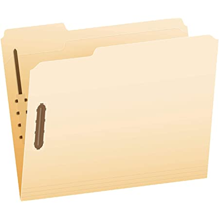 Pendaflex Fastener Folders, 2 Fasteners, Letter Size, Manila, 1/3 Cut Tabs, in Left, Right, Center Positions, 50 Per Box (FM213)