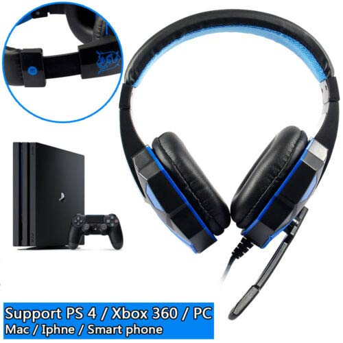OUYAWEI Wired Gaming Headset Headphone for PS4 Xbox One Nintend Switch PC White