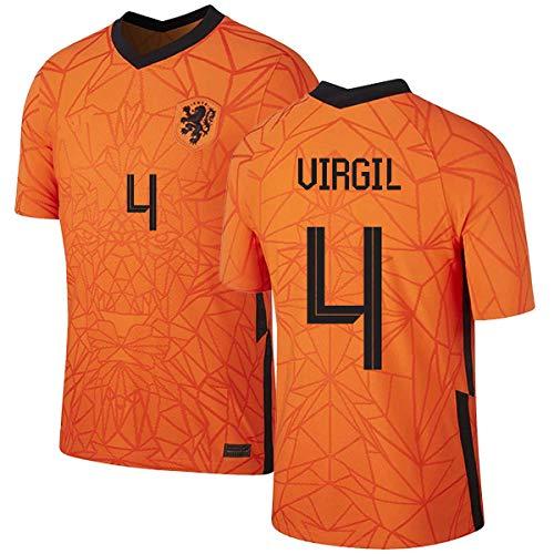 Virgil Van Dijk Nederland Shirt 2020/21,Mannen en Kinderen Shirt