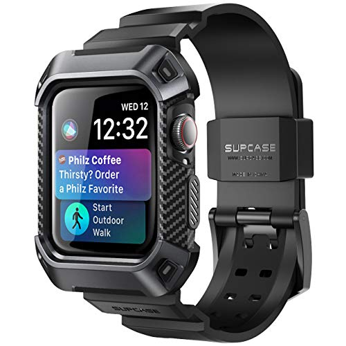 SUPCASE Armband für Apple Watch 4 / Watch 5 [44mm] Apple Watch Band Robust Hülle Ersatzarmband Sport iWatch Case Schutzhülle [Unicorn Beetle Pro] (Schwarz)