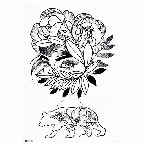 Huien Étanche Autocollant De Tatouage Temporaire Lotus Rose Motif Transfert d'eau sous Le Sein Épaule Fleur Body Art, TH393