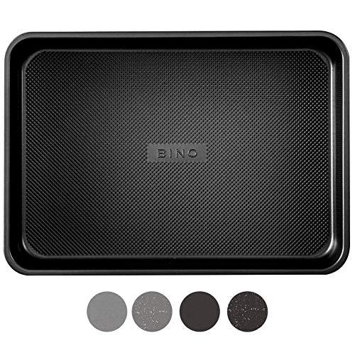 BINO Bakeware Nonstick Baking Pan, 9 x 13 Inch - Black | Premium Quality Textured Cake Pan with Even-Flow Technology | Dishwasher Safe | Non-Toxic