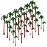 YOU339 30 Stück Modell Bäume Coconut Palmen (5.5-19cm), Tabletop Gelände, DIY Sand Modellbahn Bäume Landschaf -